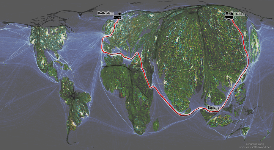 """Map by Benjamin D. Hennig """"Geography"""" A New book by Danny Dorling and Carl Lee"""