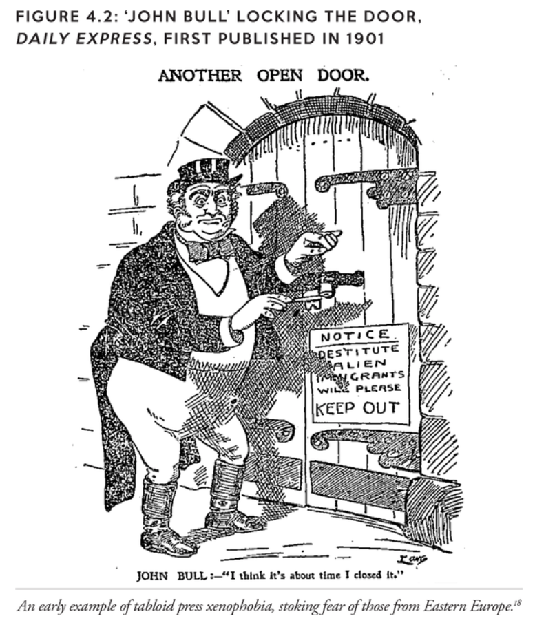 'John Bull' Locking the door, Dailey Express, first published in 1901